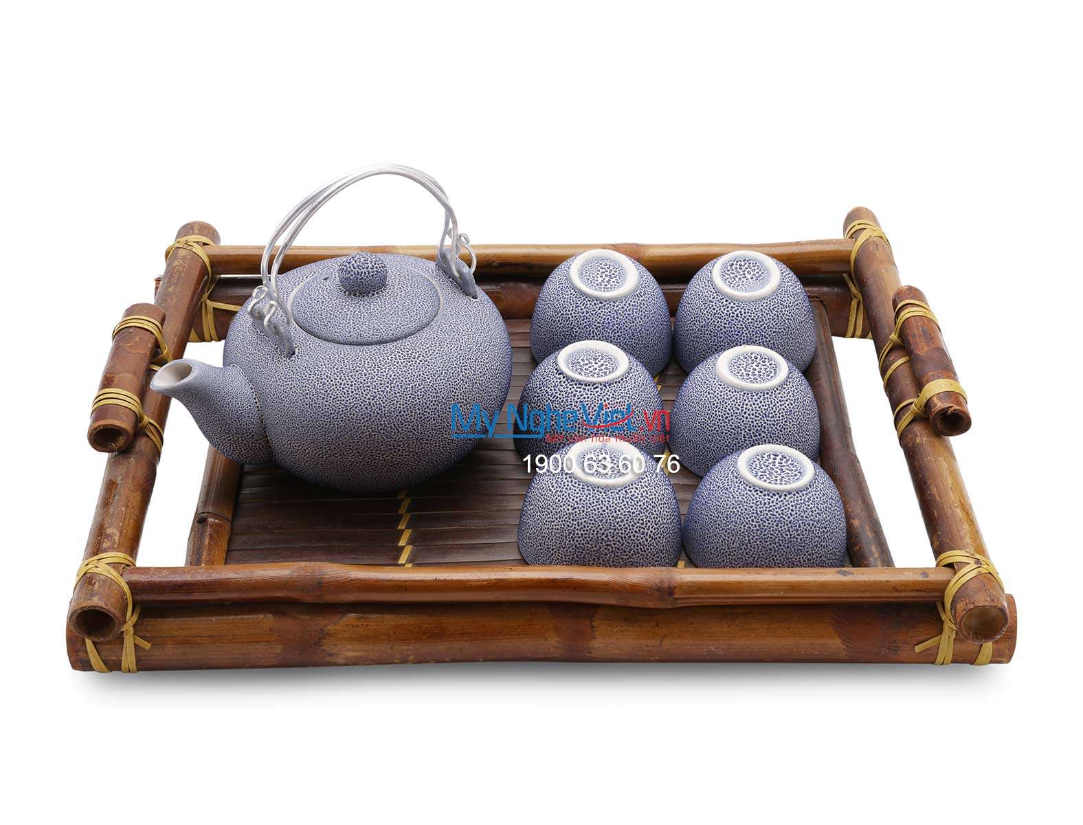 Ceramic tea set purple MNV-BT151