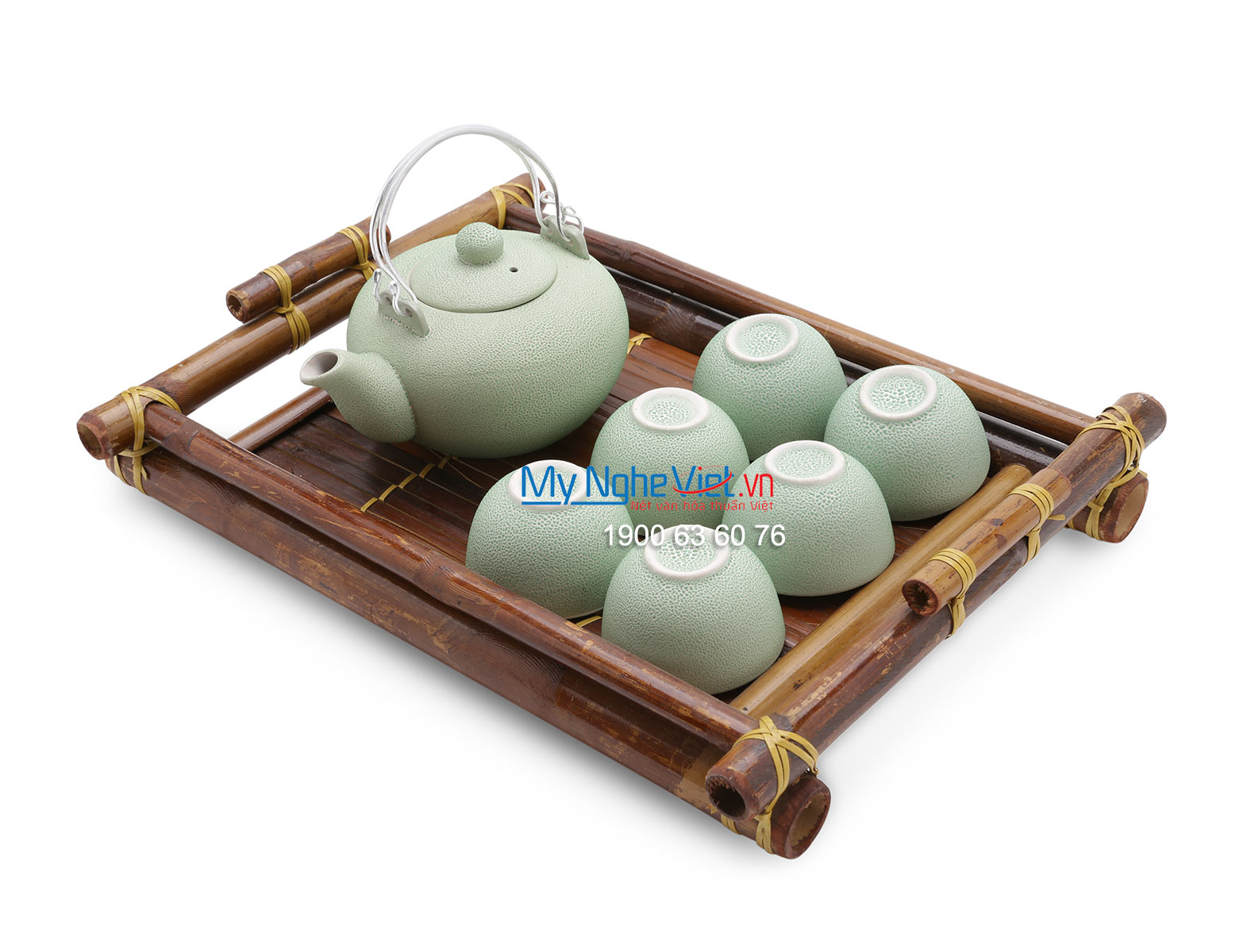 Ceramic tea set green MNV-BT151/2